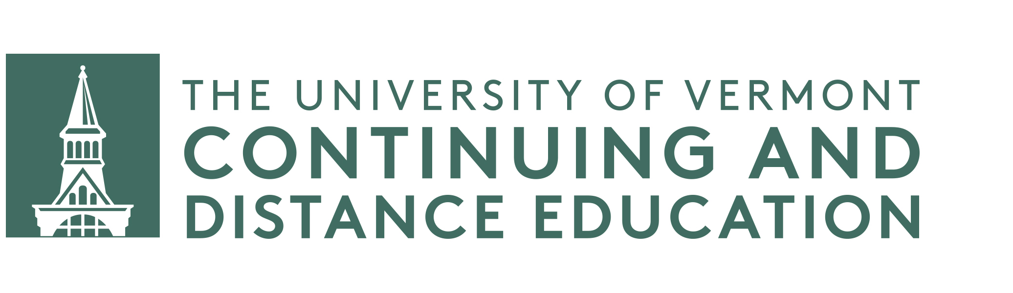 UVM Continuing and Distance Education Logo